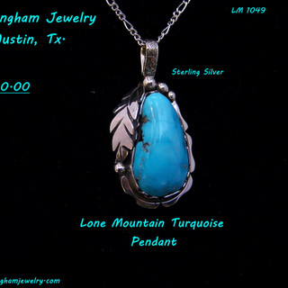 Lone mountain Turquoise Pendant LM-1093