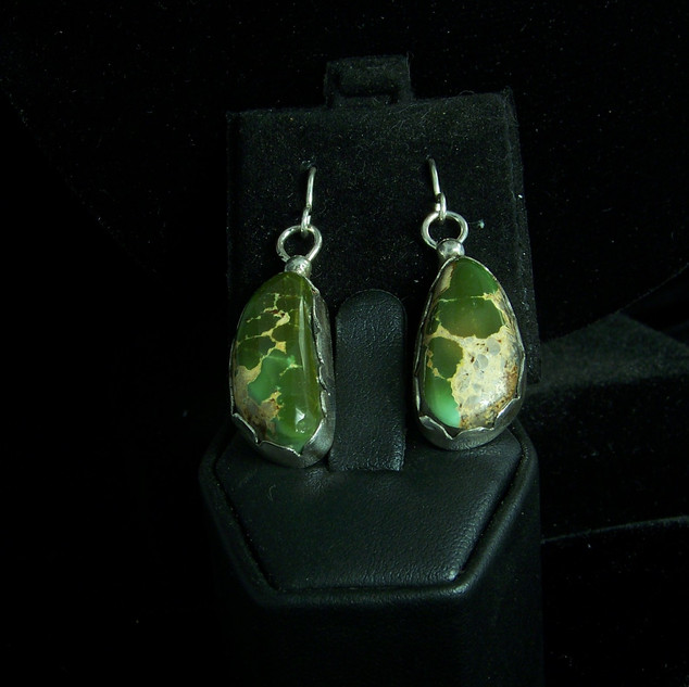 Military Green, Royston Ear Rings **SOLD**