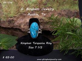 Kingman SpiderWeb Turquoise Ring RR 1016