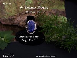 Afghanistan Lapis Lazuli Ring RR-1019