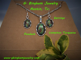 ***SOLD***Campitos Earring Pendant Set.