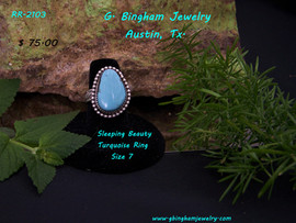 Sleeping Beauty Turquoise Ring RR-2103