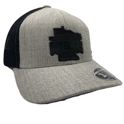 Heather Grey & Black Flex Fit Trucker