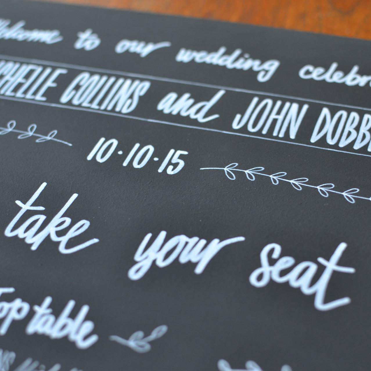 Chalkboard table plan - Michelle and John (11)