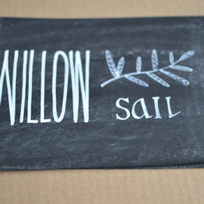 Chalkboard table plan and table number signs: Damien and Gail - October 2015
