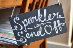 Sparkler Send Off Hanging Chalkboard