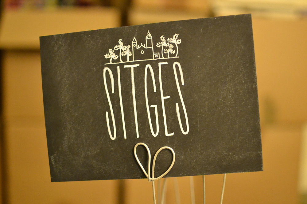 Chalkboard table numbers - Sitges