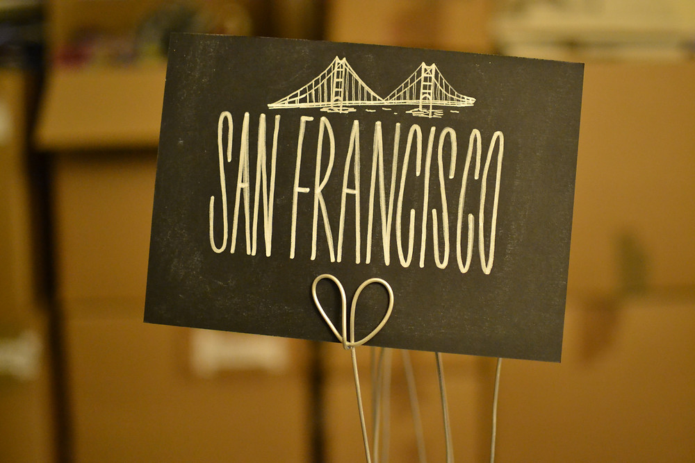 Chalkboard table numbers - San Francisco