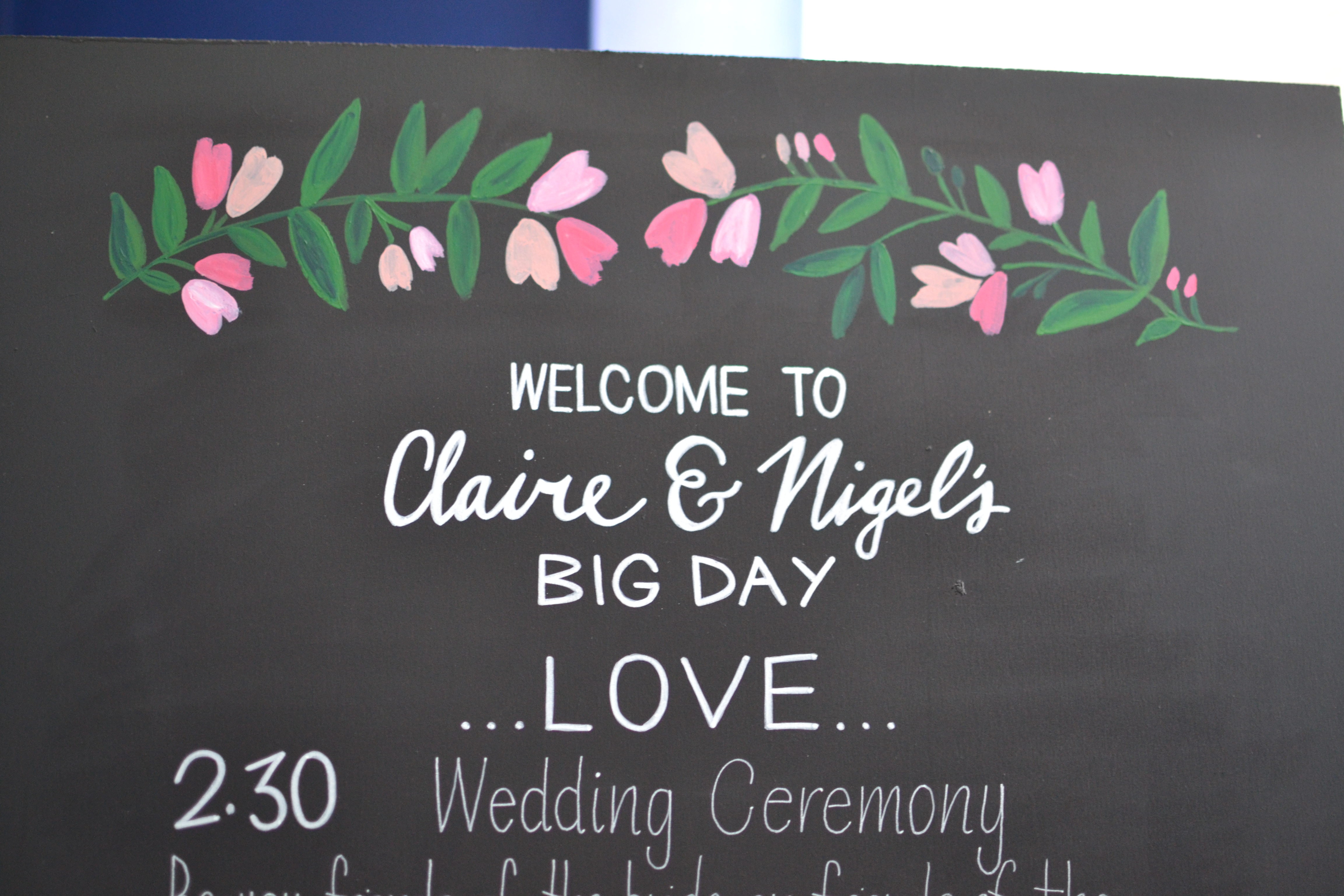 Claire & Nigel 2016 - Wedding Chalkboards - DreamalittleHANDMADE (19)
