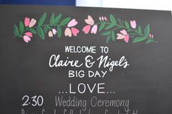 Claire & Nigel 2016 - Wedding Chalkboards - DreamalittleHANDMADE (19)