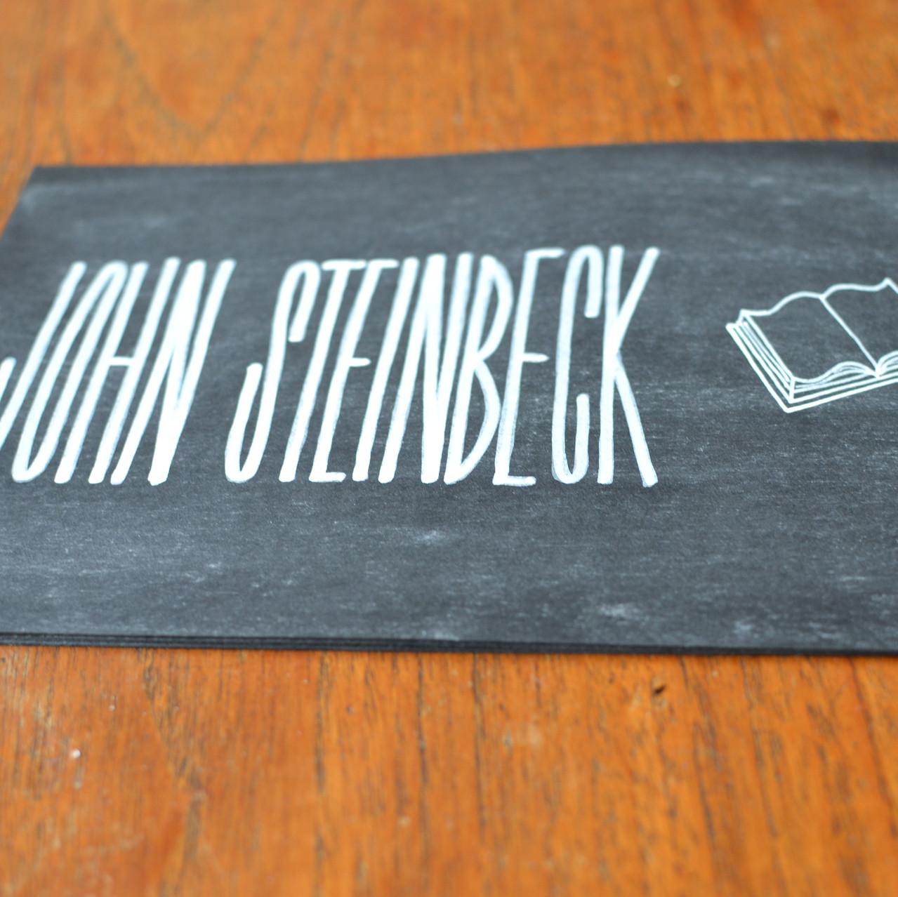 Chalkboard table number signs - Emm6