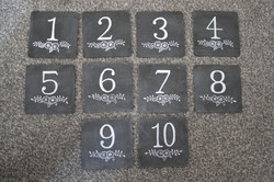 Wooden Table Numbers with Easels