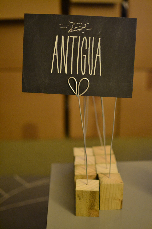 Chalkboard table numbers - Antigua