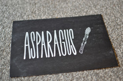 Vegetable Themed Table Number Signs