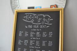 Framed Wedding Seating Plan