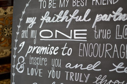 Wedding chalkboard quote sign