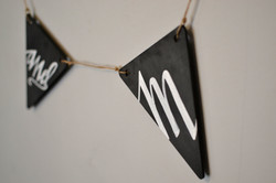 mr and mrs chalkboard bunting