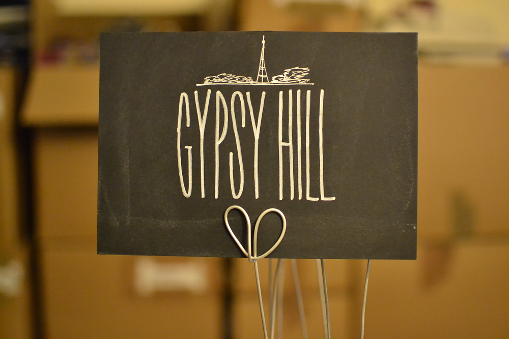 Chalkboard table numbers - Gypsy Hill