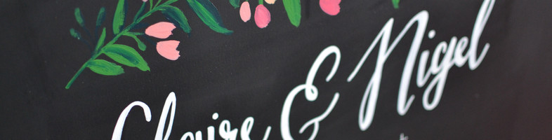 Claire & Nigel 2016 - Wedding Chalkboard