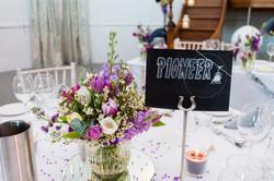 Skiing Themed Wedding Table Numbers