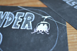 Detail of Skiing Themed Table Number