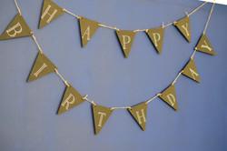 Chalkboard hanging happy birthday