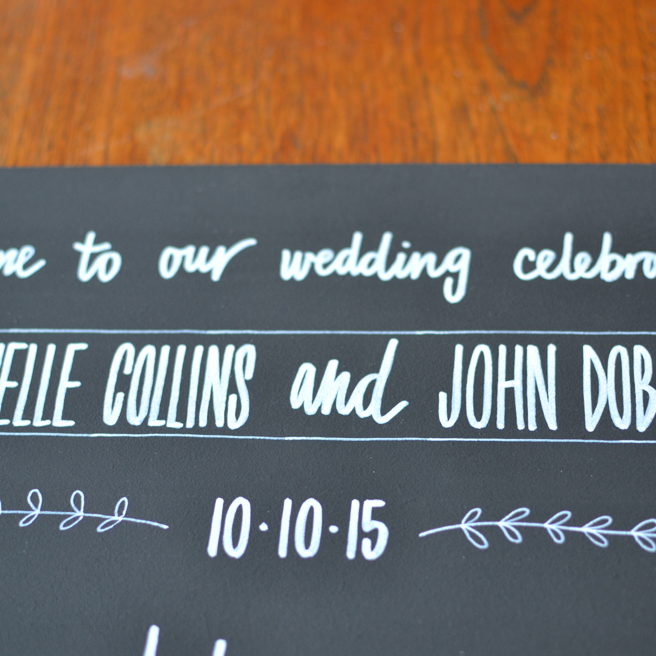 Chalkboard table plan - Michelle and John (18)