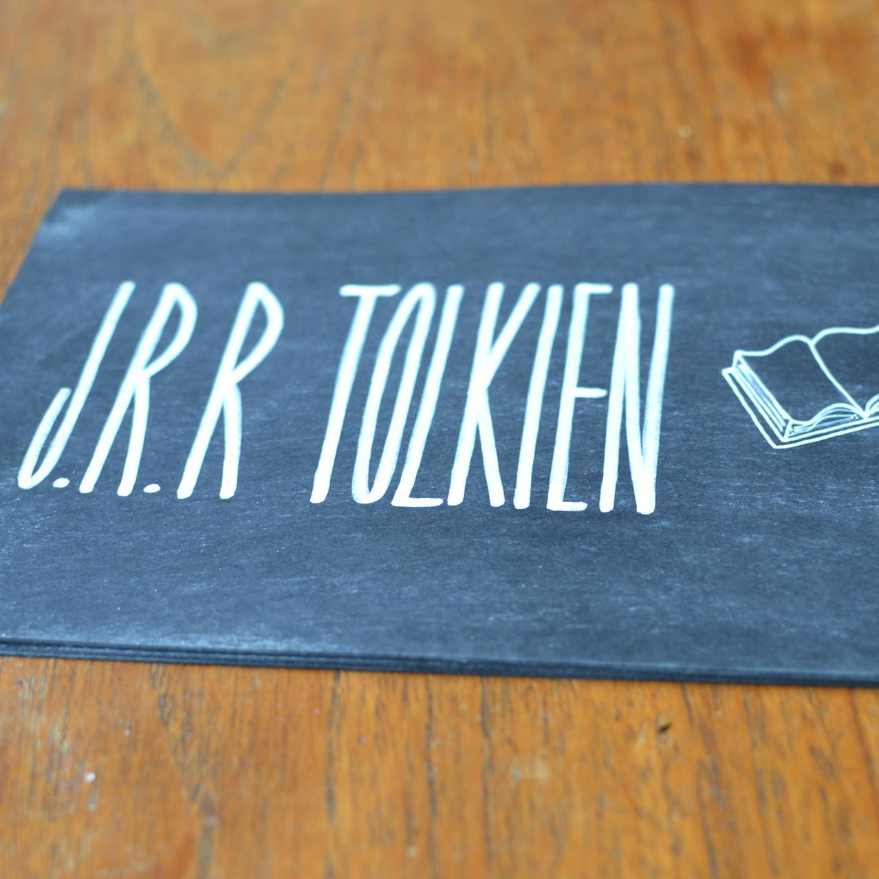 Chalkboard table number signs - Emm9