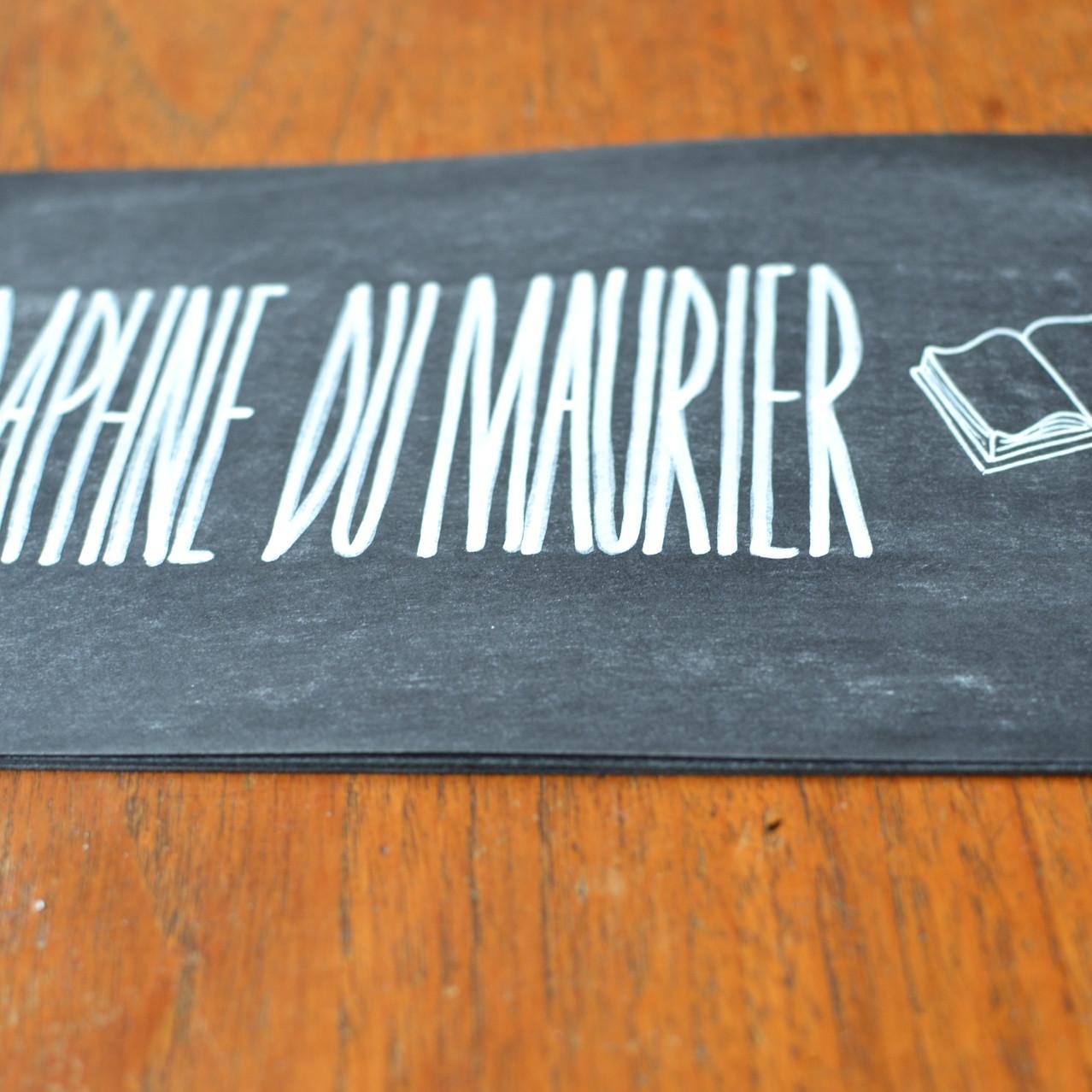 Chalkboard table number signs - Emm5