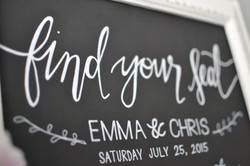 Framed Wedding Table Plan Chalkboard