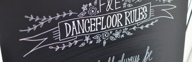 Frank & Elizabeth Wedding Chalkboards -