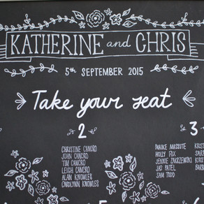 Wedding chalkboards: Katherine & Chris - August 2015