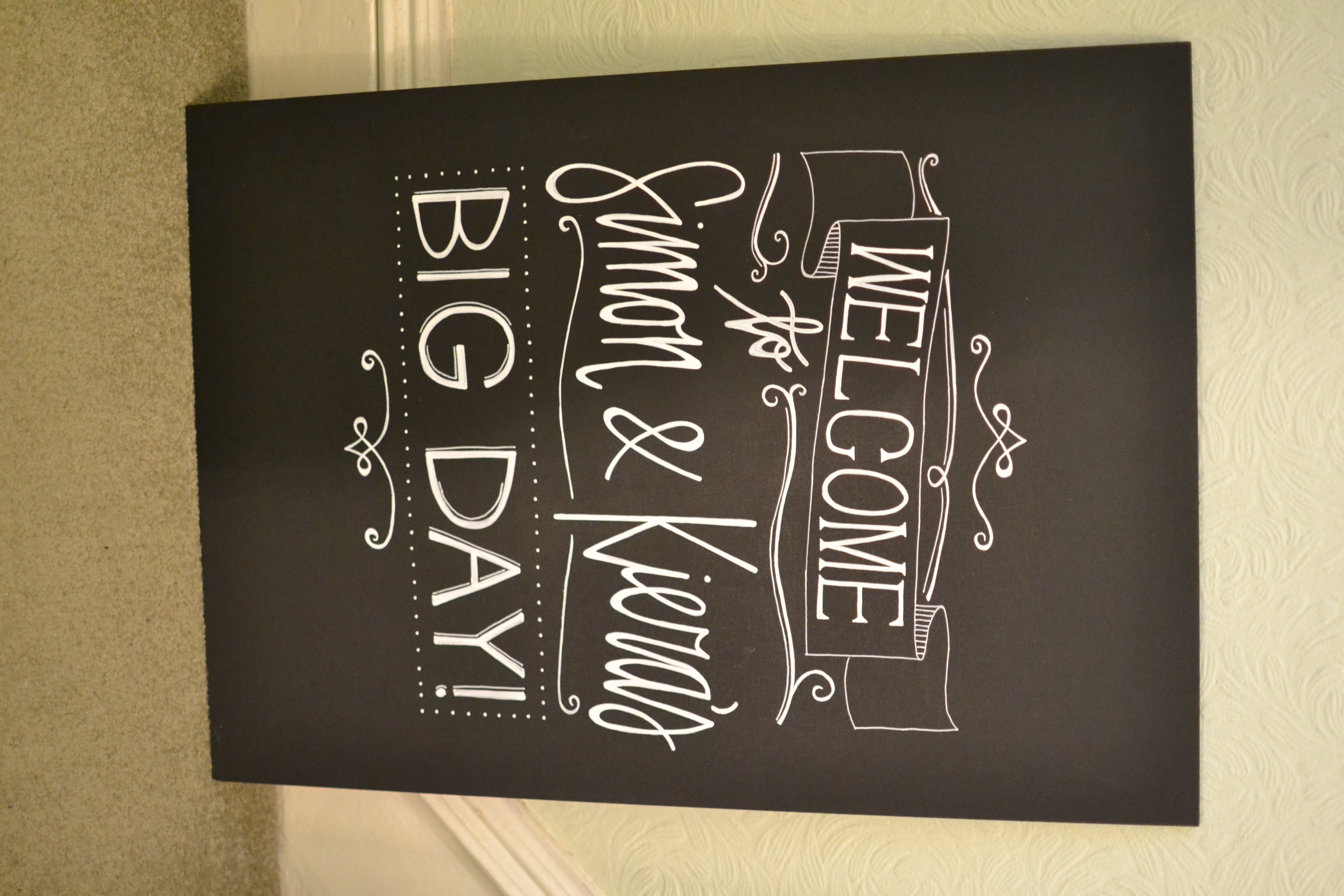 Wedding chalkboards - Simon & Kiera - April 2016 (8)