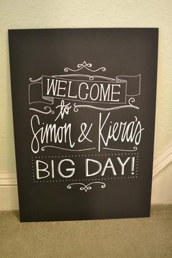 Wedding chalkboards - Simon & Kiera - April 2016 (8)