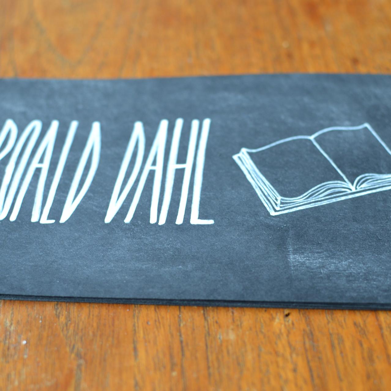 Chalkboard table number signs - Emm7