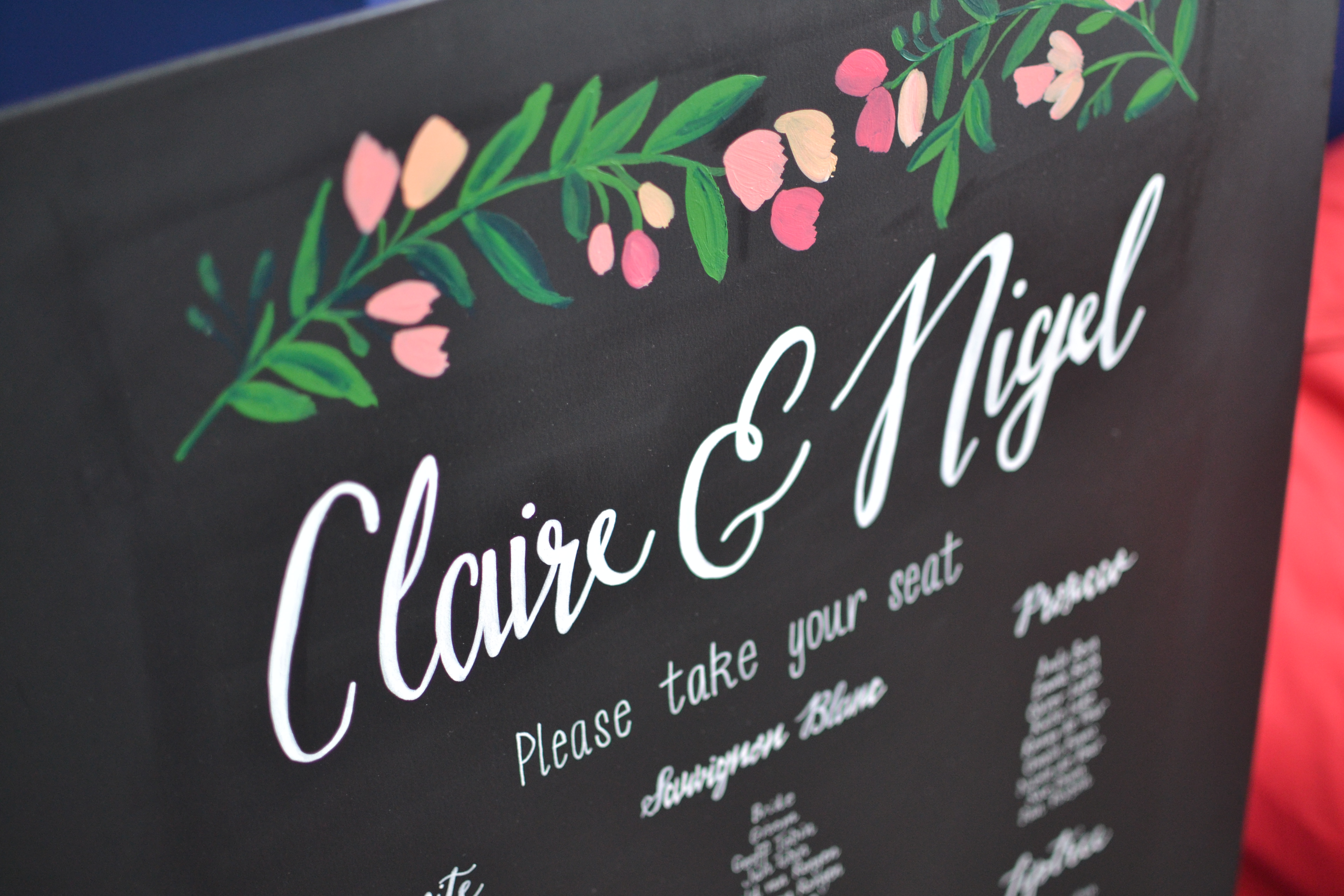 Claire & Nigel 2016 - Wedding Chalkboards - DreamalittleHANDMADE (30)