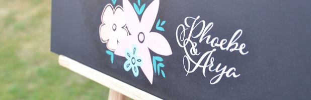 Phoebe & Arya Chalkboard Signs - August