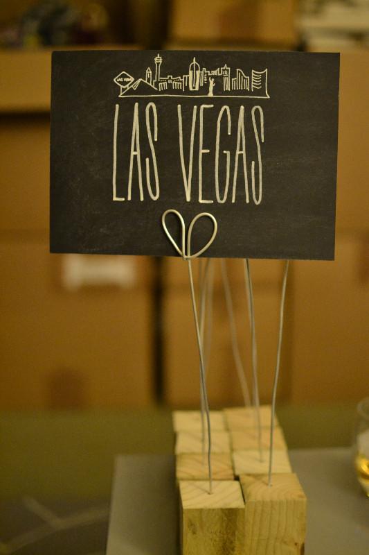 Chalkboard table numbers - Las Vegas