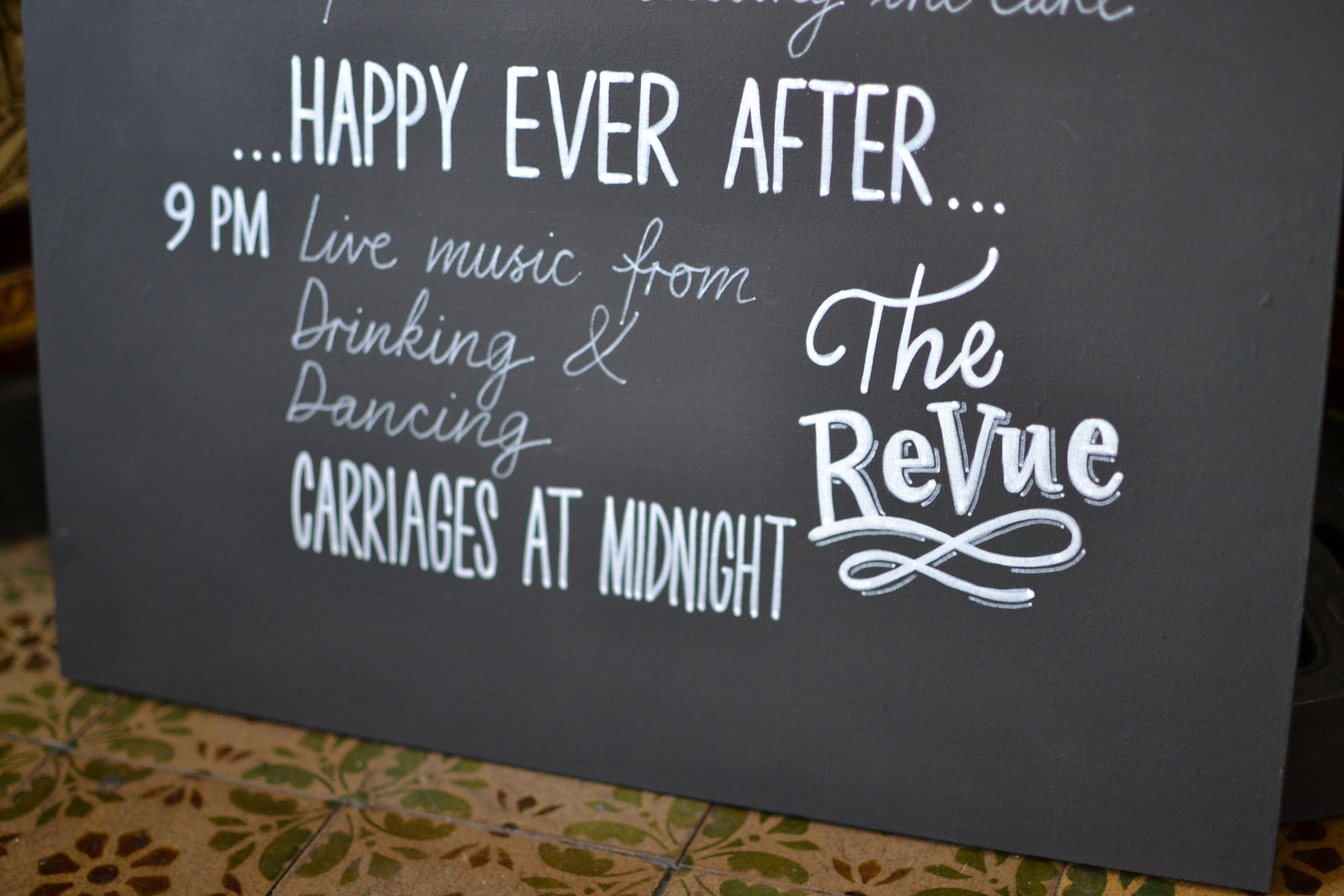 Detail of June Wedding Timing Sign
