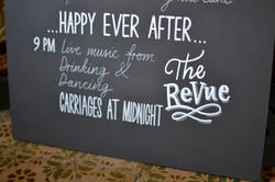 Detail of June Wedding Timing Sign