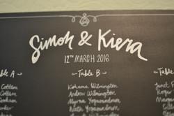 Simon & Kiera - Wedding Table Plan