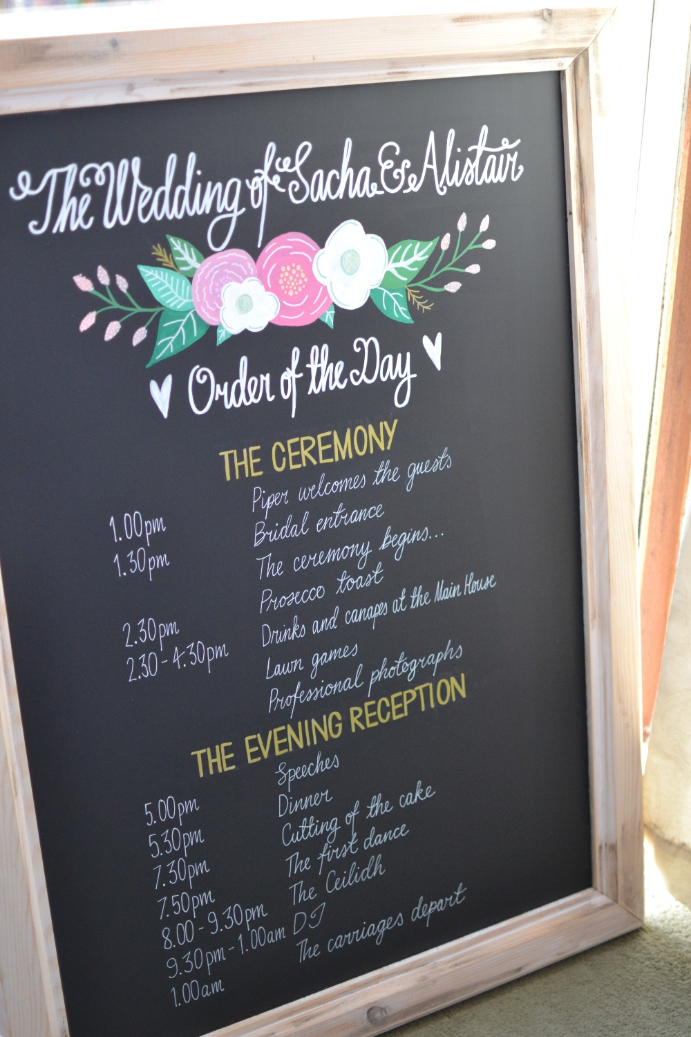 Sacha & Alistair Framed Timings Chalkboard - June 2016 (14)_edited