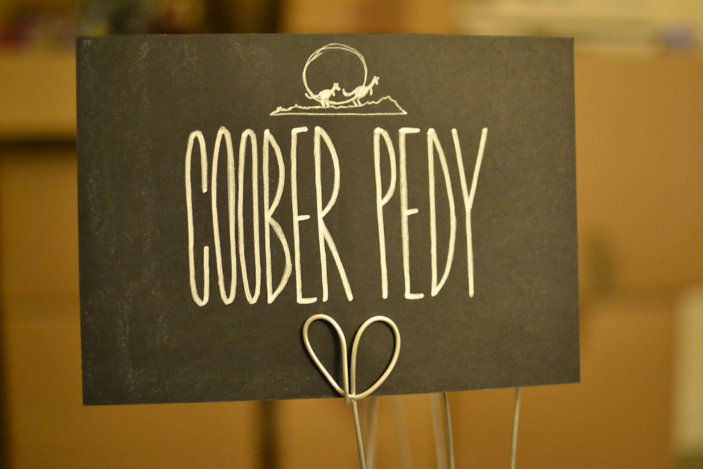 Chalkboard table numbers - Coomber Pedy