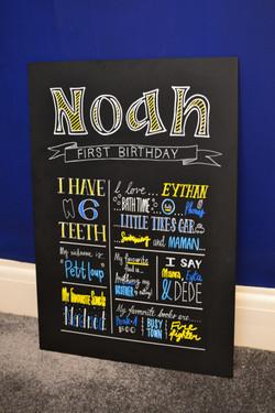 Bespoke Birthday Chalkboard Noah