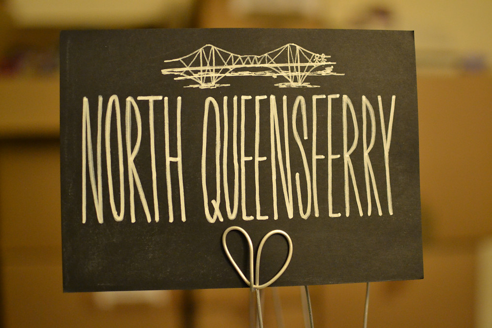 Chalkboard table numbers - North Queensferry