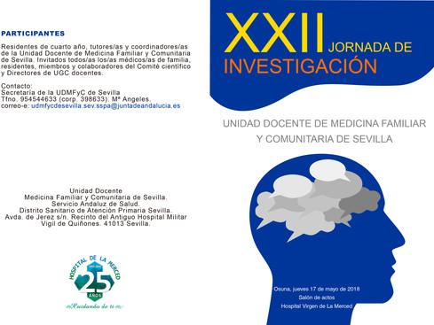 XXII Jornada de Investigación UDMFyC de Sevilla