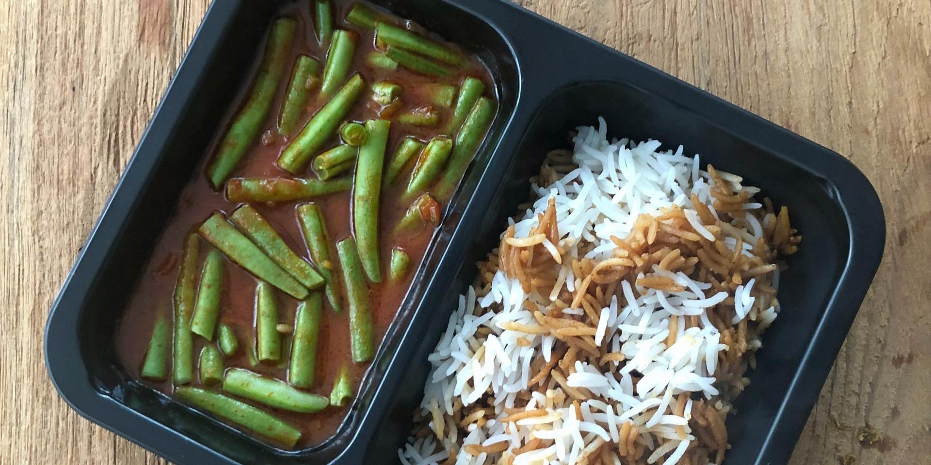 Haricot verts in saus met rijst 2
