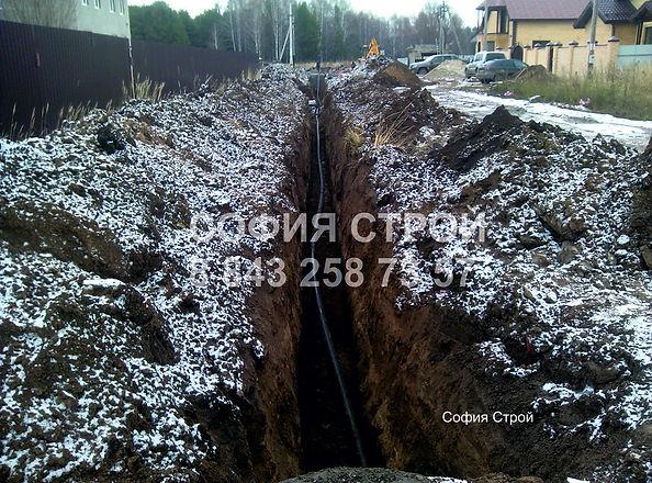 монтаж центрального водопровода по улице на несколько домов 110полиэтилен 700метров