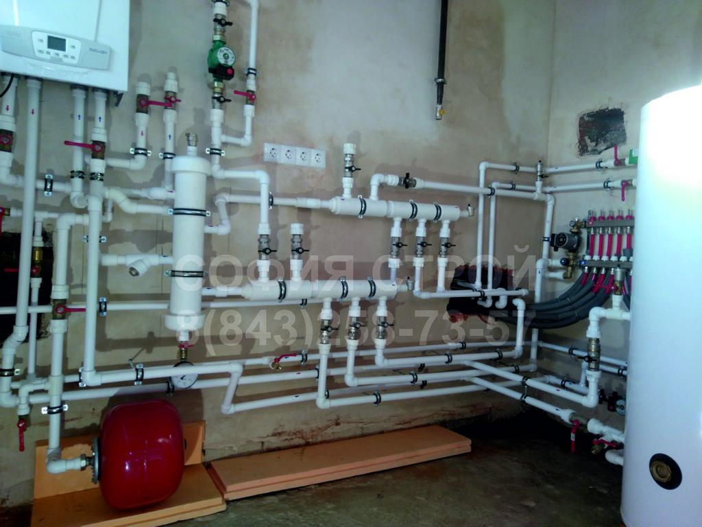 Отопление в доме 250м.кв