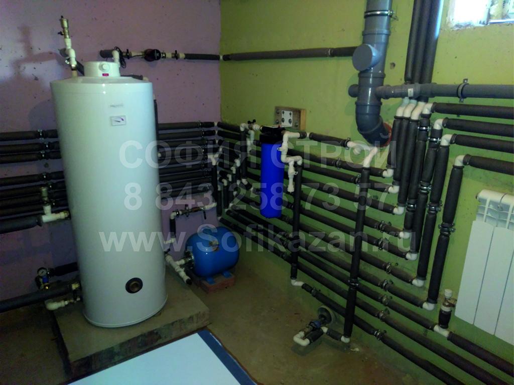 Отопление Пол Вода Канал Дом 200квм